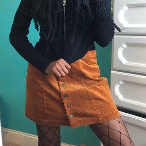Fall orange skirt